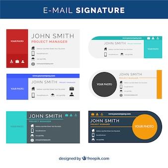 Сбор подписей электронной почты в плоском стиле