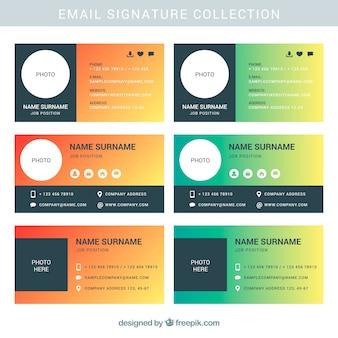 Коллекция электронной почты в градиентном стиле