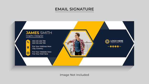 Email signature or email footer template and  social media cover design premium vector