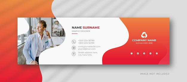 Подпись электронной почты или нижний колонтитул электронной почты и шаблон оформления обложки facebook для личных социальных сетей