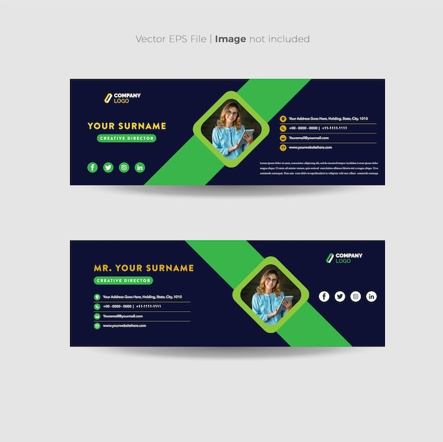 Email signature or personal social media cover