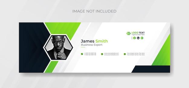 Шаблон подписи электронной почты и дизайн обложки нижнего колонтитула электронной почты в личных социальных сетях