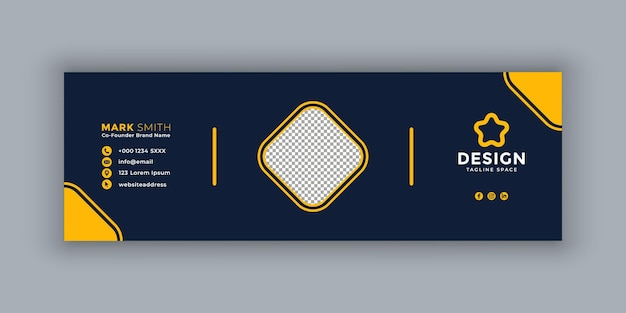 Email signature template business and corporate design