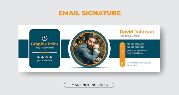 Email signature template design or email footer and personal facebook cover premium vector