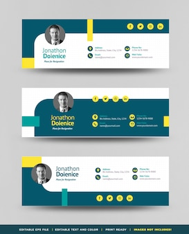 Email signature template design or email footer or personal social media coverâ