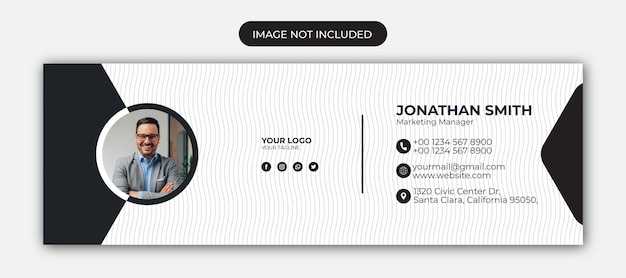 Email signature template design or facebook cover page