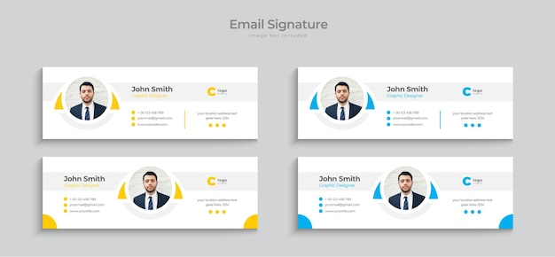 Email signature template design or modern personal email signature design