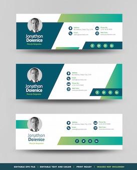 Дизайн шаблона подписи электронной почты, нижний колонтитул электронной почты или обложка для личной социальной сети