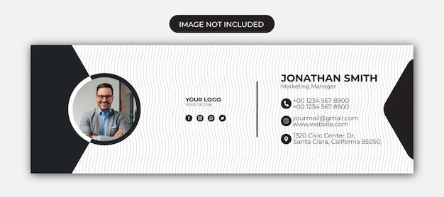 Дизайн шаблона подписи электронной почты или обложка facebook