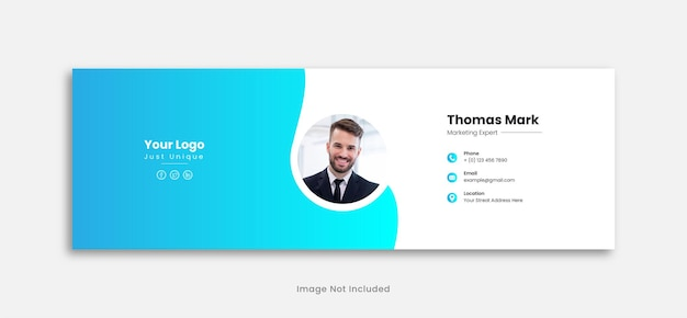 Дизайн шаблона подписи электронной почты