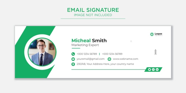 Email signature template or email footer and social cover premium vector