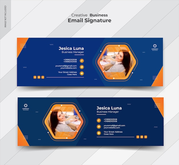 Email signature template   and personal social media cover