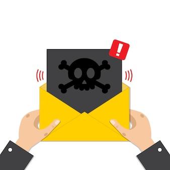 Концепция спам сообщения электронной почты.