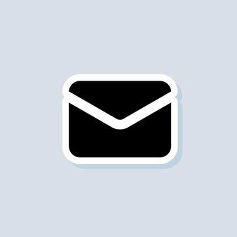 이메일 스티커. 봉투. 뉴스레터 로고. 이메일 및 메시징 아이콘입니다. 격리 된 배경에 벡터입니다. eps 10.