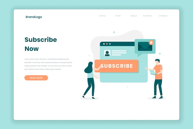 Email subscribe landing page concept. illustration for websites, landing pages, mobile applications, posters and banners.