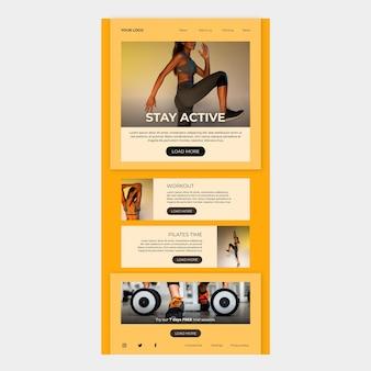 Modello di posta elettronica per il fitness