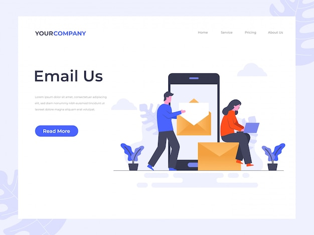 Email us landing page