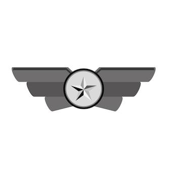 Emblem contour showing military rank
