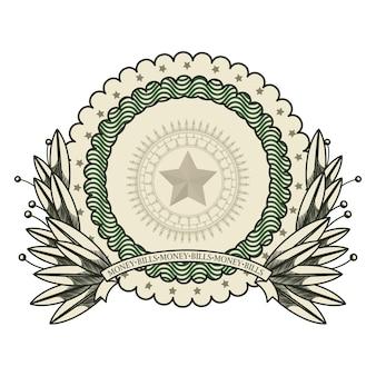 Дизайн эмблемы доллара