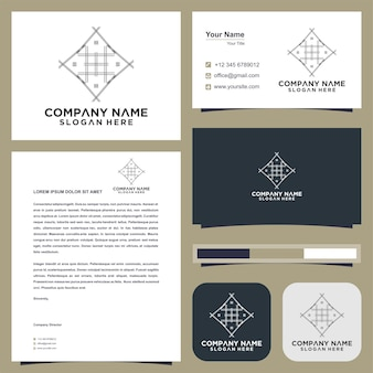 Emblem for luxury boutiques logo and business card premium