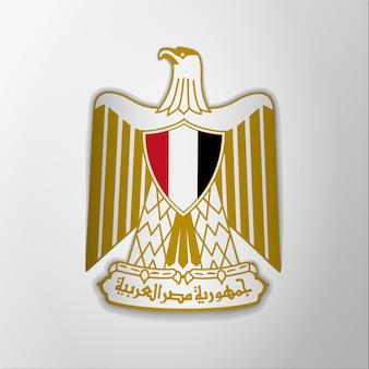 Герб египта. 23 июля. векторная иллюстрация. орел саладина. герб, герб. национальный символ. шаблон графического дизайна.