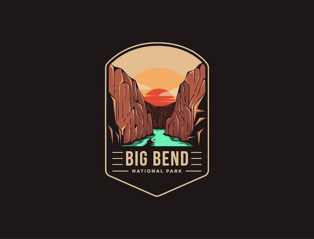 Emblem patch logo of big bend national park
