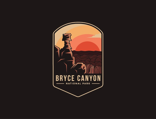 Emblem patch logo of bryce canyon national park