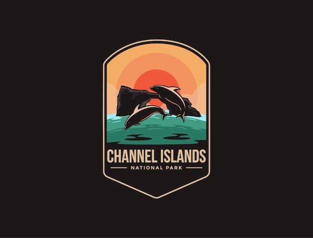 Emblem patch logo of channel islands national park