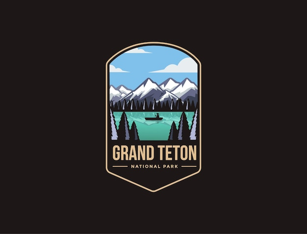 グランドティトン国立公園のエンブレムパッチロゴ