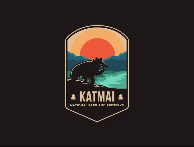 Нашивка с эмблемой национального парка и заповедника катмай