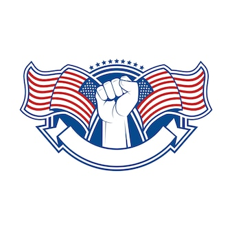 Emblem and symbol for us independence day