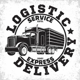Emblem of truck rental organisation