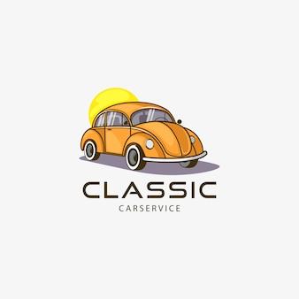 Эмблема винтажного автомобиля. иллюстрация