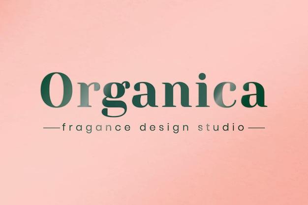 Goffra il vettore del modello del logo aziendale per i marchi organici