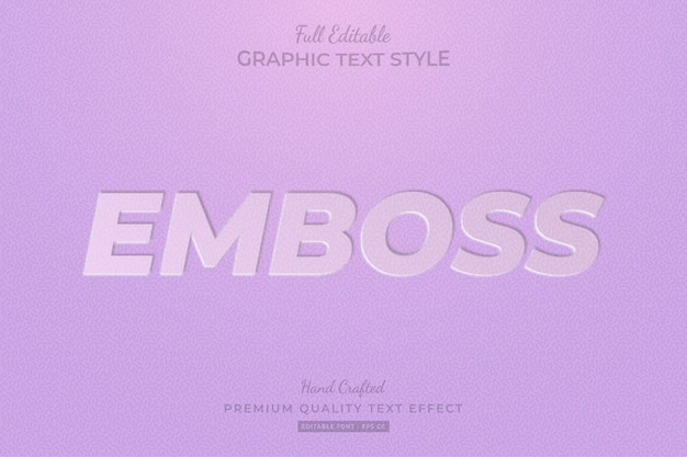 Emboss clean editable text style effect