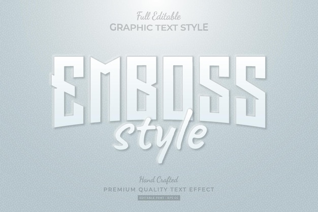 Emboss style editable premium text effect font style