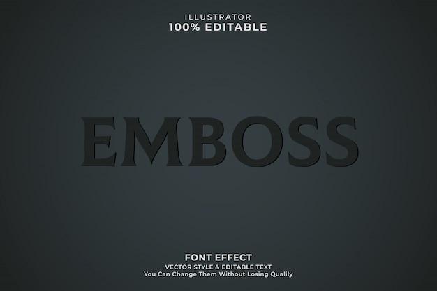 Emboss  text effect