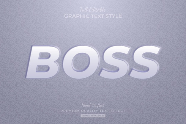 Embossed editable text effect font style