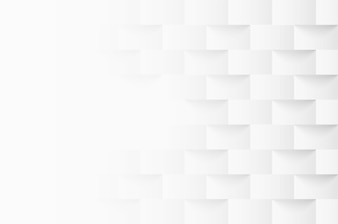 Embossed geometric square white background