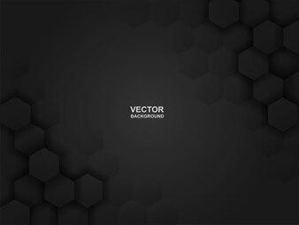 Embossed Hexagon black Background .