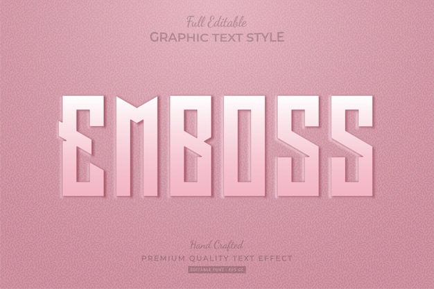 Embossed pink  editable text effect