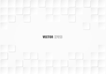 Embossed square white background .