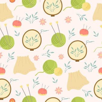 刺繡と編み物のパターン