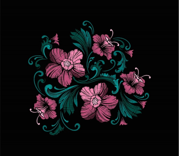 Embroidery design in baroque style.