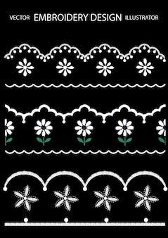 刺繍デザインの花