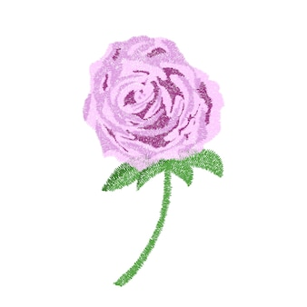 Embroidery purple rose design for clothing