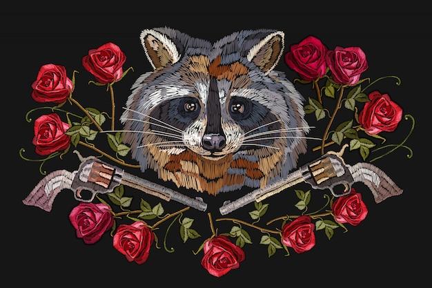 Embroidery raccoon