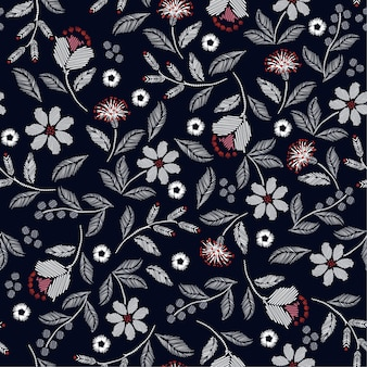 Embroidery seamless pattern