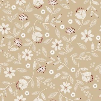 Embroidery seamless pattern