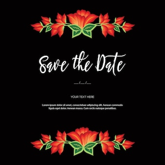 Embroidery style from oaxaca mexico floral save the date template